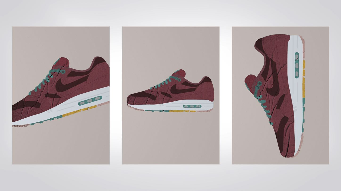 illustration air max web design